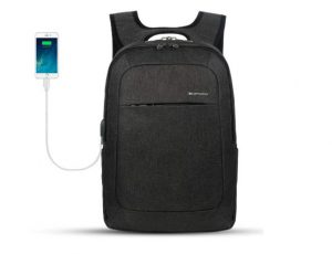 smart backpack with USB charging port, backpacks with cool features.